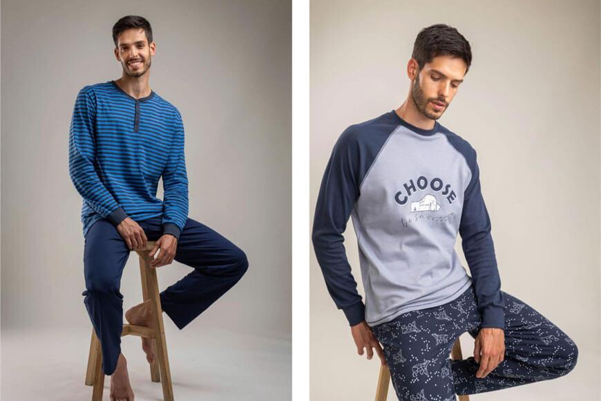 Dva modela muške pidžame
